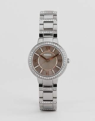 Fossil ES4147 ladies stainless steel watch with pink dial