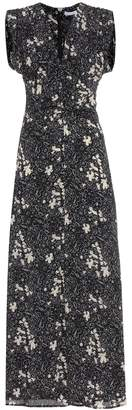 Tomas Maier Floral-printed silk dress
