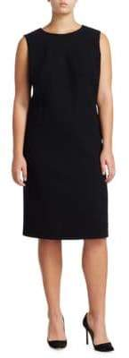 Lafayette 148 New York Plus Selita Wool Shift Dress