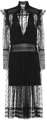 Philosophy di Lorenzo Serafini Embroidered chiffon dress