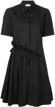 Lanvin ruffle detail shirt dress