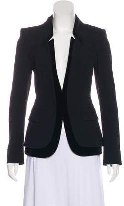 Tom Ford Velvet-Trimmed Tailored Jacket