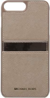 Michael Kors Phn Cover W Pkt 7+ Ltr 2 Phone Wristlet, ROSEGLD/BLLT