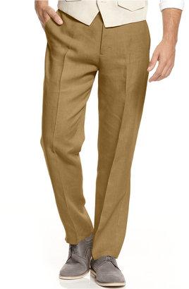 Tasso Elba Men's 100% Linen Pants, Only at Macy's $69.50 thestylecure.com