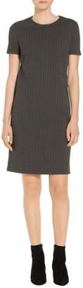 St. John Pinstripe Doubleface Jersey Dress