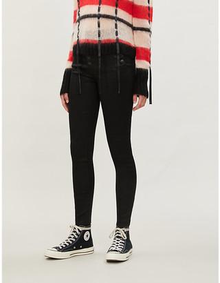J Brand Natasha super high-rise skinny coated jeans