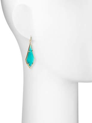 Kendra Scott Olivia Drop Earrings, Emerald-Hue Cat's Eye