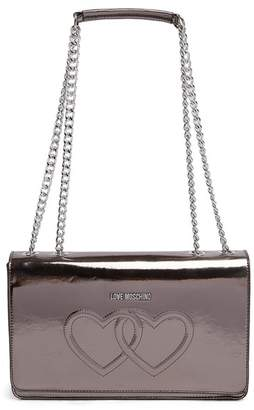 Love Moschino Embossed Hearts PU Leather Shoulder Bag