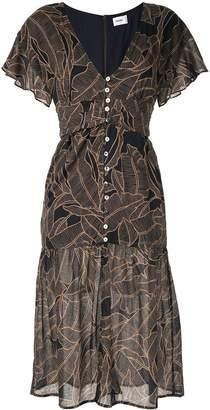 SUBOO flutter sleeve dress