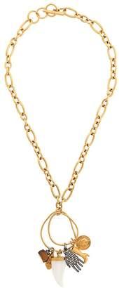 Sonia Rykiel shark tooth charm chain necklace