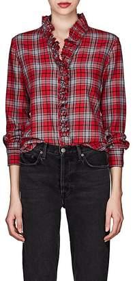 Etoile Isabel Marant Women's Dawendy Plaid Cotton Flannel Blouse