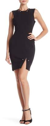 Bebe Pearl Embellished Sleeveless Dress