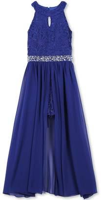 Speechless Big Girls' High Neck Maxi Romper Dress
