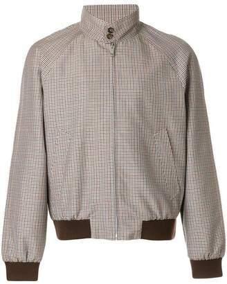 Prada houndstooth bomber jacket