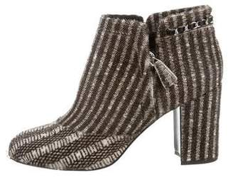 Chanel Paris-Dallas Ponyhair Booties