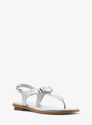 Michael Kors Caroline Metallic Leather Sandal