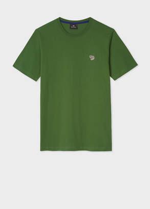 Paul Smith Men's Green Organic-Cotton Zebra Logo T-Shirt