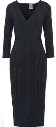 Herve Leger Metallic Stretch-knit Dress
