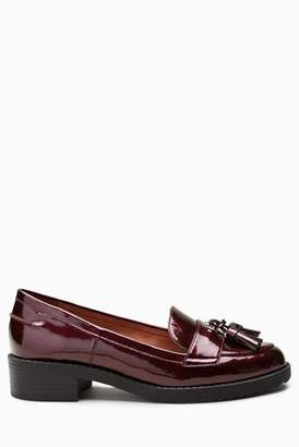 9bc24622106 Tassel Navy Leather Loafers Women - ShopStyle UK