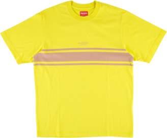 Supreme Stripe Tee - 'SS 18' - Dark Yellow