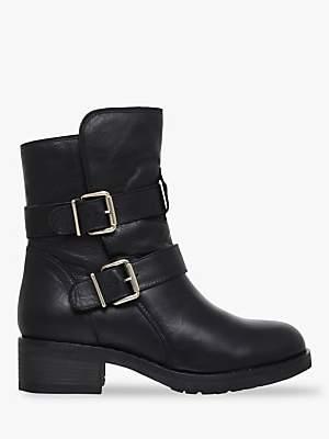 4e0831824e Kurt Geiger London Richmond Buckle Ankle Boots, Black Leather