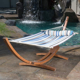 Bay Isle Home Kouklia Hanging Chaise Lounger with Stand