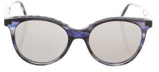 Bottega Veneta Intrecciato Cat-Eye Sunglasses