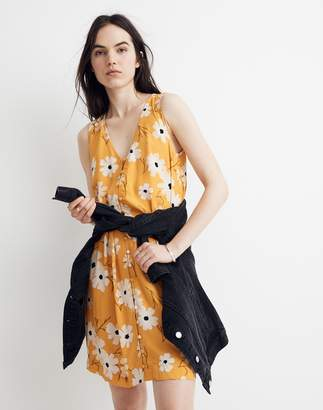 Madewell Heather Button-Front Dress in Ikat Floral