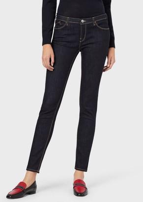 Emporio Armani J28 Super Skinny Jeans In Stretch Denim