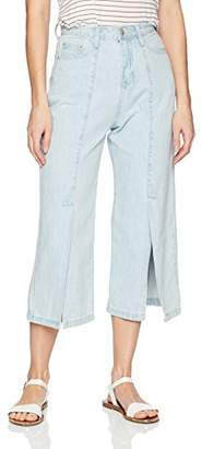 En Creme Junior's Wide Leg Crop Jeans