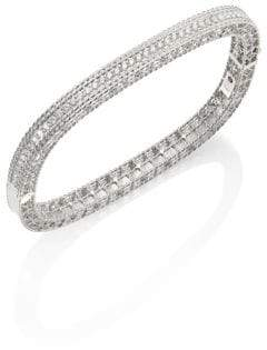 Roberto Coin Princess Diamond& 18K White Gold Bangle