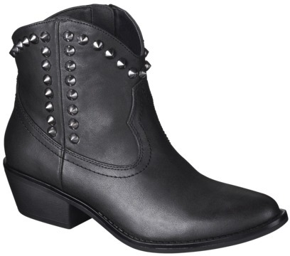 Mossimo Women's Kalayla Studded Cowboy Ankle Boot - Black