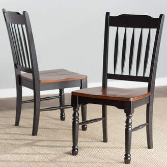Laurèl Foundry Modern Farmhouse Shelburne Solid Wood Dining Chair (Set of 2)