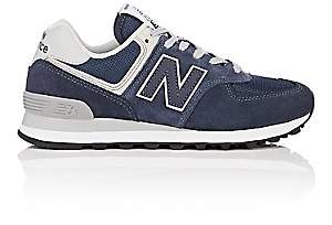 New Balance Women's 574 Classic Suede & Mesh Sneakers - Navy