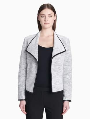 Calvin Klein piped flyaway jacket