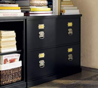 Pottery Barn Bedford 2-Drawer Lateral File Cabinet, Black