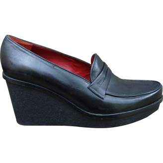 Clergerie Black Leather Flats