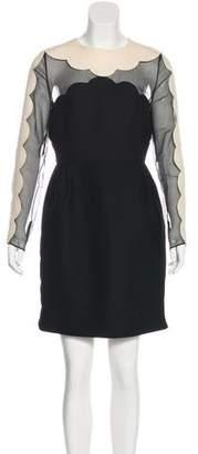 Valentino Scallop Edge Tulip Dress