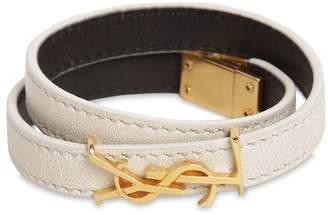 Saint Laurent Double Leather Bracelet