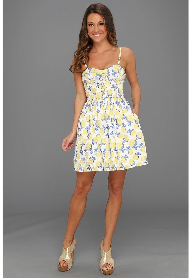 Juicy Couture Bright Rose Jacquard Bustier Dress (Meringue Multi) - Apparel