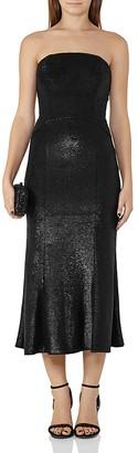 REISS Ricami Sequin Midi Dress $660 thestylecure.com
