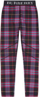 Burberry Checked Leggings