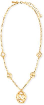 Oscar de la Renta Globe Pendant Necklace
