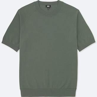 Uniqlo Men's Washable Crewneck Short-sleeve Sweater