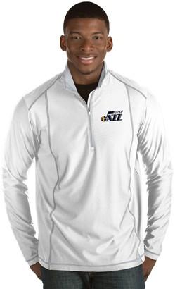 Antigua Men's Utah Jazz Tempo Quarter-Zip Pullover
