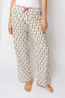 Rock Flower Paper Eiffel Tower Lounge-Pants