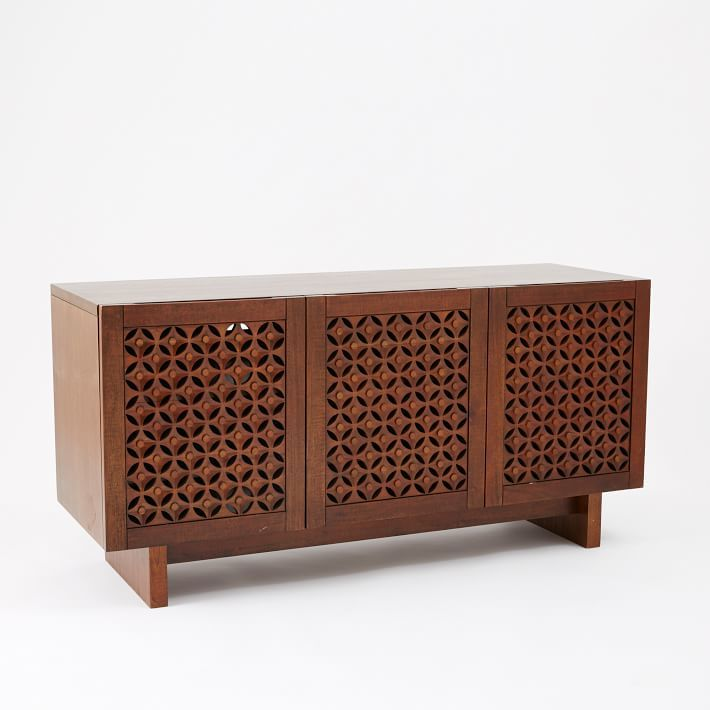 Carved Wood Media Console