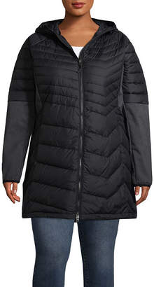 Columbia Midweight Hooded Water Resistant Puffer Jacket-Plus