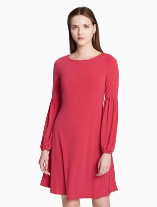 Calvin Klein bubble sleeve jersey dress