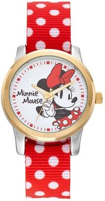 Disney Disney's Minnie Mouse Women's Two Tone Polka Dot Reversible Watch
